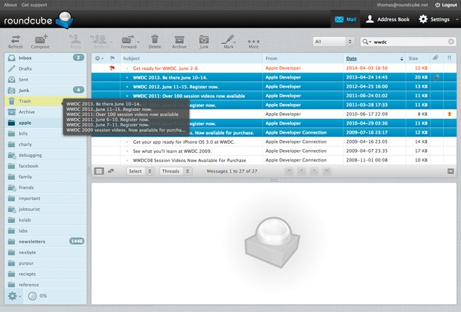 Roundcube Email Client Web Browser
